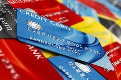 Pile par la carte de crédit Photo libre de droits