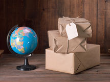 Pile parcel Royalty Free Stock Images