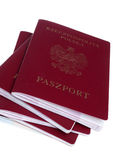 Pile of passport Stock Images