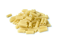 Pile of pasta pieces isolated over white Royalty Free Stock Images