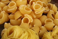 Pile of pasta stock image