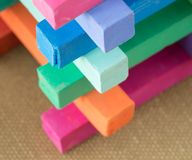 Colorful Pastel Chalk Colours Crayon Pieces Stock Images