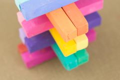 Pastel Chalk Colours Crayon Pieces Royalty Free Stock Photography