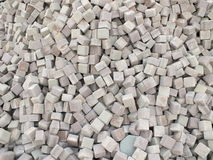 A pile of pavement tiles Royalty Free Stock Photography