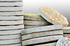 Pile of paving slab stock image