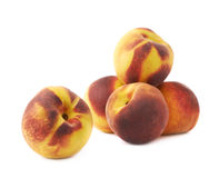 Pile of peach fruits isolated Royalty Free Stock Photography