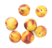 Pile of peach fruits isolated Stock Photography