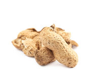 Pile of peanut shells isolated Stock Photos