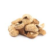 Pile of peanut shells isolated Stock Image