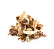 Pile of peanut shells isolated Royalty Free Stock Photography
