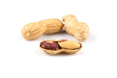 Pile of peanuts close up Royalty Free Stock Photos