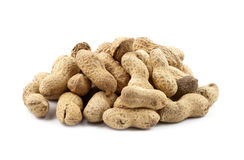 Pile of peanuts isolated Royalty Free Stock Images