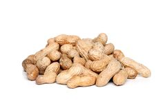 Pile of peanuts in the shell Stock Photography