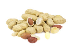 Pile of peanuts in shell Royalty Free Stock Image