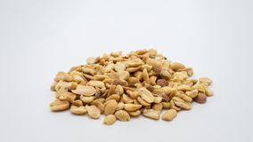Pile of peanuts. Pile of peanuts on white background Stock Photo