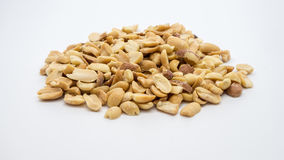 Pile of peanuts. Pile of peanuts on white background Royalty Free Stock Photography