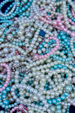 Pile of Pearl Bracelets Royalty Free Stock Photo