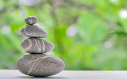 Pile of pebble stones in nature Royalty Free Stock Photography