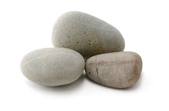 Pile of Pebbles. Over white Royalty Free Stock Photo