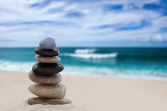 Pile of pebbles at the beach Stock Photography