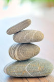 A pile of pebbles isolated Stock Image