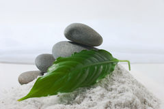 Pile of pebbles in the pile of salt Royalty Free Stock Photography