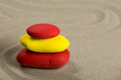 A pile of pebbles, red and yellow Stock Image