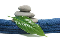 Pile of pebbles on the towel Stock Image