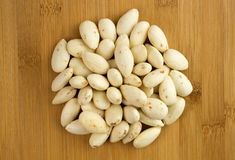 Pile of peeled almonds Royalty Free Stock Image