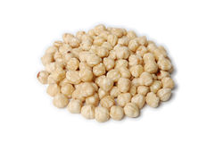 Pile of peeled (blanched) hazelnuts Royalty Free Stock Image