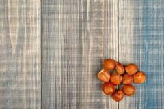 A pile of peeled hazelnuts Royalty Free Stock Photography