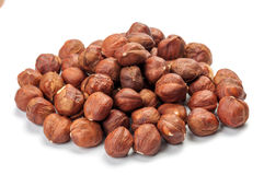 Pile of peeled hazelnuts Royalty Free Stock Photos