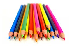 Pile of pencil crayons Royalty Free Stock Image