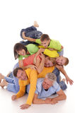 Pile of people. Nice pile of a colorful people on white Royalty Free Stock Photos