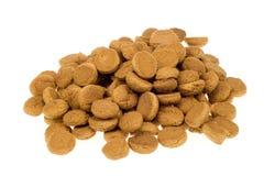 Pile of pepernoten stock image