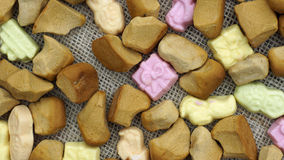 Pile of pepernoten. Pile of Old Dutch Pepernoten, typical Dutch treat for Sinterklaas on 5 december Stock Image