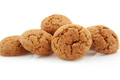Pile of pepernoten, typical Dutch cookies Royalty Free Stock Images