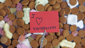Pile of Pepernoten. Typical Dutch treat for Sinterklaas in december Stock Photo