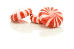 Pile of Peppermints. A photo of some peppermints over a white background Stock Photos