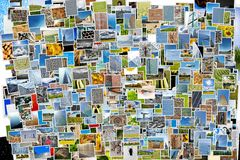 Pile of photos background Stock Photography