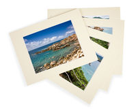Pile of photos with passepartout Stock Photos