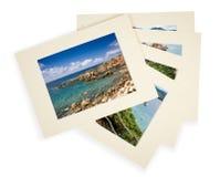 Pile of photos with passepartout stock photos