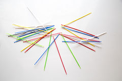 Pile of pick up sticks fun game overlapping Royalty Free Stock Photo
