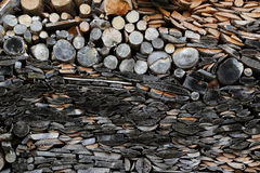 A pile of pieces of wood Stock Images