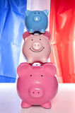 Pile of piggy banks Stock Image