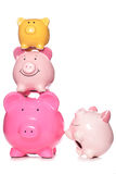 Pile of piggy banks Royalty Free Stock Photos