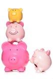 Pile of piggy banks Royalty Free Stock Photos