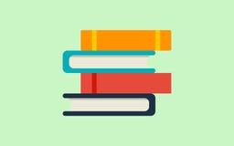 Pile, pile des livres Éducation, concept d'école Icône plate de vecteur Photo stock