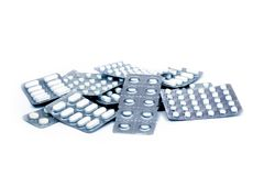 Pile of pills Royalty Free Stock Image