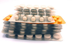 PILE OF PILLS Stock Images